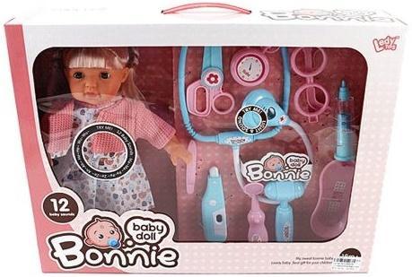 Кукла Shantou Gepai Bonnie с набором доктора 30 см со звуком LD9905D shantou gepai каталка ходунки бегемотик со светом и звуком shantou gepai