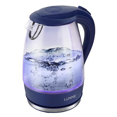 все цены на Чайник Lumme LU-216 2200 Вт синий сапфир 2 л пластик/стекло онлайн
