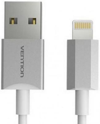 Кабель Vention USB 2.0 AM-Lightning 8M для iPad/iPhone 5/6 серебристый VAI-C02-W100