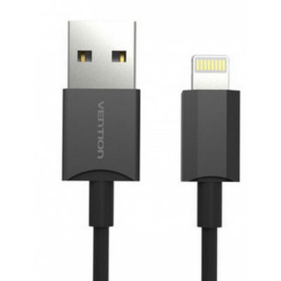 Кабель Vention USB 2.0 AM-Lightning 8M для iPad/iPhone 5/6 черный VAI-C02-B100