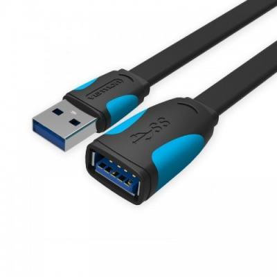 Кабель удлинительный USB 3.0 AM-AF 1.0м Vention VAS-A13-B100 плоский vention vai c02 b100 кабель usb lightning black 1 м