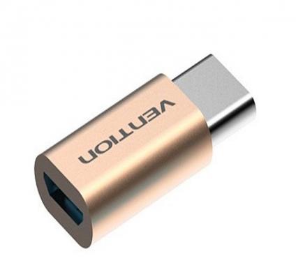 Vention Переходник USB С(m)-microUSB B Vention VAS-S10-G золотистый
