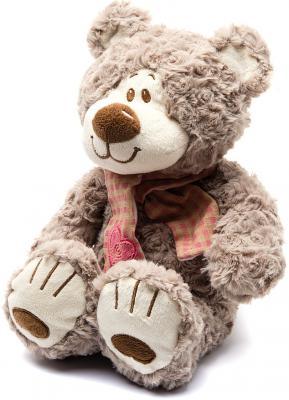 Мягкая игрушка медведь Fluffy Family Мишка Митя с шарфом искусственный мех бежевый 25 см