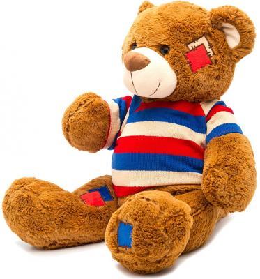 Мягкая игрушка медведь Fluffy Family Мишка Топтыжка в кофте плюш коричневый 50 см