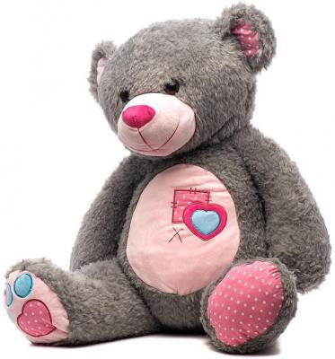 Мягкая игрушка медведь Fluffy Family Тошка плюш серый 60 см