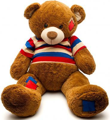 Мягкая игрушка медведь Fluffy Family Мишка Топтыжка в кофте 70 см коричневый плюш 681175 мишка fluffy family тимка 30 см розовый 681258