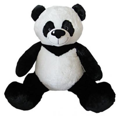 Мягкая игрушка медведь Fluffy Family Панда плюш белый черный 70 см