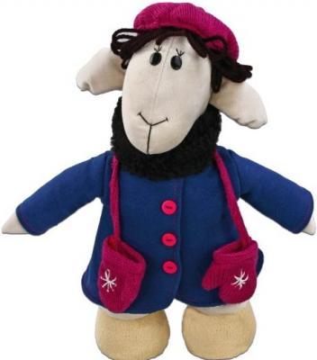 Мягкая игрушка овечка Fluffy Family Овечки челОвечки Фантазерк искусственный мех синтепон текстиль разноцветный 30 см 6927226810234