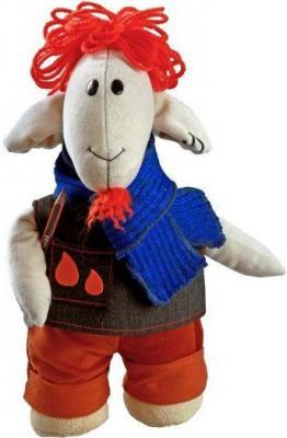 Мягкая игрушка овечка Fluffy Family Овечки челОвечки Художник искусственный мех текстиль синтепон разноцветный 30 см 6927226810272