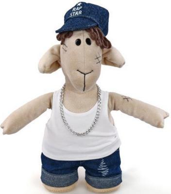 Мягкая игрушка овечка Fluffy Family Овечки челОвечки Диджей текстиль бежевый 30 см