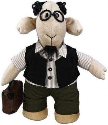 Мягкая игрушка овечка Fluffy Family Овечки челОвечки Профессор текстиль бежевый 30 см