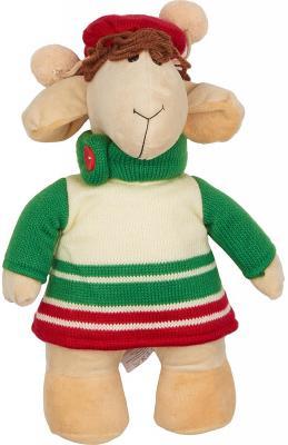 Мягкая игрушка овечка Fluffy Family Овечки челОвечки Рукодельница пластик бежевый 30 см