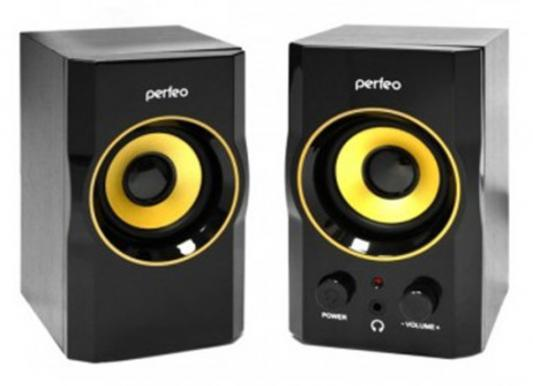 Колонки Perfeo Mezzo PF-190 2x3 Вт USB черный