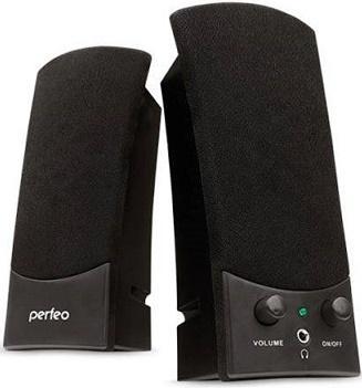 Колонки Perfeo Uno PF-210 2x3 Вт USB черный колонки perfeo mezzo pf 190 2x3 вт usb черный