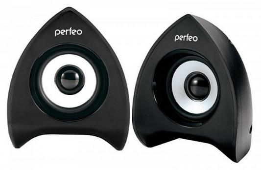 Колонки Perfeo Focus PF-233 2x3 Вт USB черный