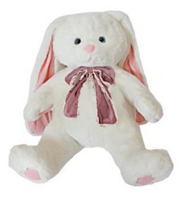 Мягкая игрушка заяц Fluffy Family Зайка Мила плюш белый 50 см 681185