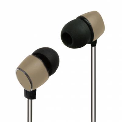 Наушники Ritmix RH-138 Metal Reflect Safari черно-коричневый