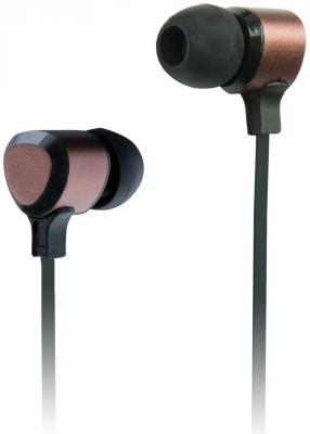 Наушники Ritmix RH-136 Metal Bronze черно-коричневый