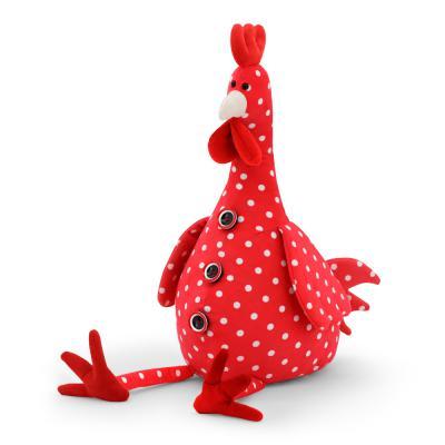 Мягкая игрушка петух ОРАНЖ Петушок Проша текстиль плюш красный 25 см 4567