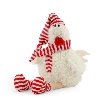 Мягкая игрушка петух ОРАНЖ Петушок Марис искусственный мех текстиль пластик белый 25 см 4567