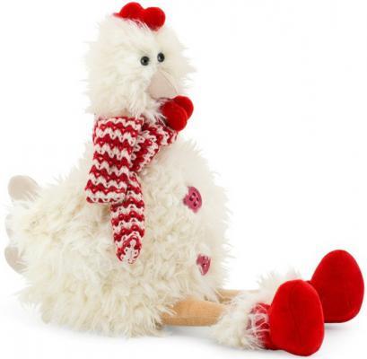 Мягкая игрушка курица Orange Курочка Ася текстиль белый 25 см 4567