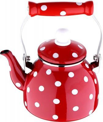 Чайник Wellberg WB-3480F красный 1 л металл