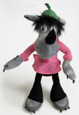 Мягкая игрушка герой мультфильма Fancy Волк Ну Погоди! Союзмультфильм плюш серый 43 см ВМП01/М