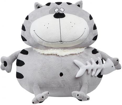 Мягкая игрушка кот Fancy Бонус плюш серый 55 см