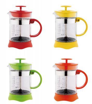 Френч-пресс Wellberg WB-9933 цвет в ассортименте 0.35 л пластик/стекло