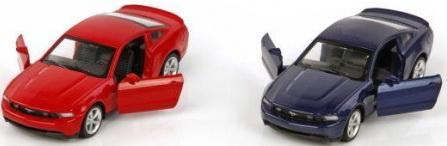 Машина мет.Пламенный мотор 1:43 Ford Mustang GT, откр.двери, цвета в ассорт.