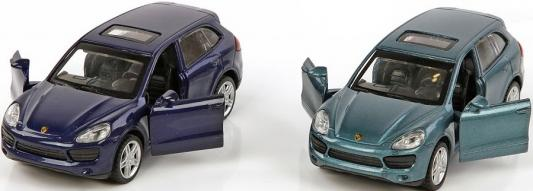 Машина мет.Пламенный мотор 1:43 Porsche Cayenne S, откр.двери, цвета в ассорт. машина porsche cayenne s технопарк