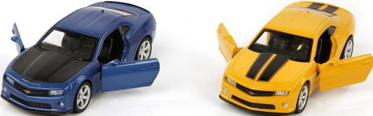 Машина мет.Пламенный мотор 1:43 Chevrolet  Camaro, откр.двери, цвета в ассорт.