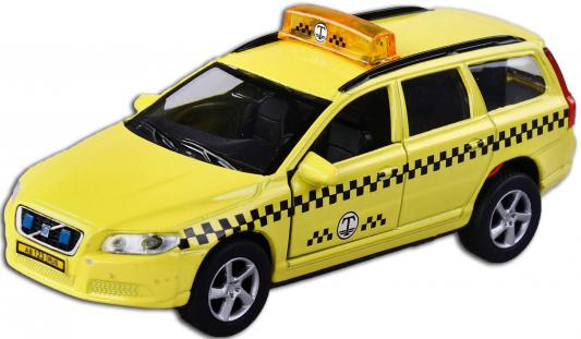 Машина Пламенный мотор 1:32 Volvo V70 Такси желтый 16 см