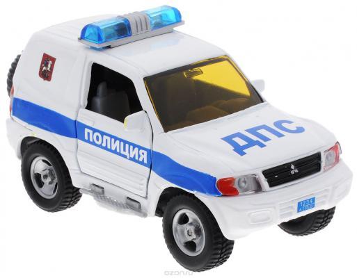 Полицейская машина Пламенный мотор 1:32 Mitsubishi Полиция ДПС белый 16 см 87518