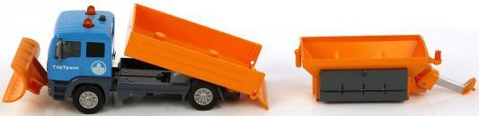 Снегоуборочная машина Пламенный мотор 1:32 Снегоуборочная машина ГорТранс оранжевый 20 см 870085