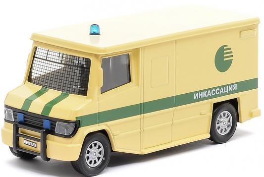Спецтехника Пламенный мотор 1:32 Фургон Инкасация 18 см бежевый 87504