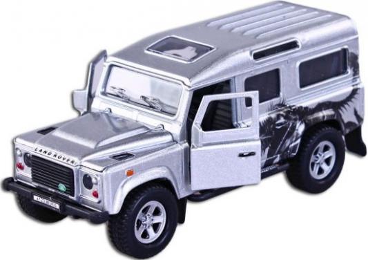 Автомобиль Пламенный мотор Landrover Defender Трансформе 1:32 серебристый свет, звук, откр.двери