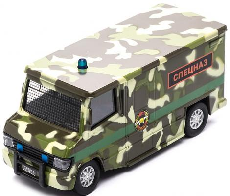 Спецслужбы Пламенный мотор 1:32 Фургон Спецназ камуфляж 18 см 870167