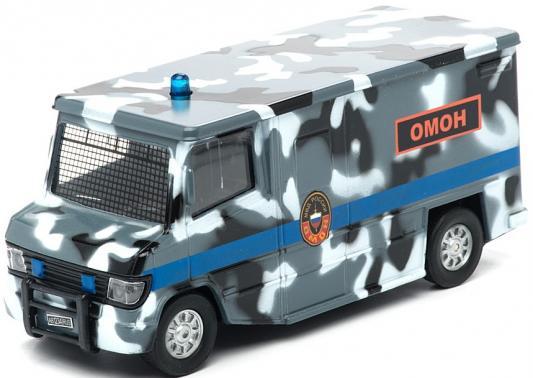 Фургон Пламенный мотор 1:32 Фургон Омон 18 см камуфляж 87506 машина пламенный мотор омон 870044