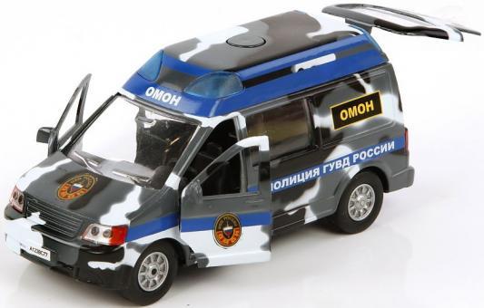 Полицейский внедорожник Пламенный мотор 1:32 Полиция ОМОН ГУВД России камуфляж 17 см 870167