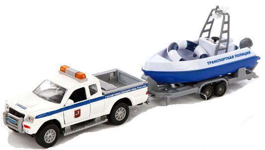Полицейская машина Пламенный мотор Mitsubishi Полиция патрульный катер белый 31 см 870105
