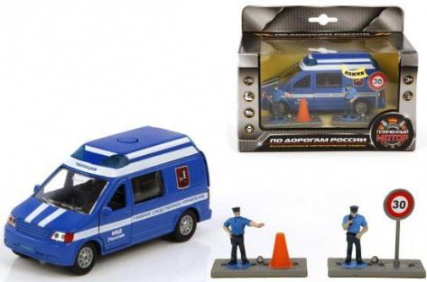 Полицейская машина Пламенный мотор 1:32 Полиция МВД России Главное следственное управление синий 18 см 6927338700744