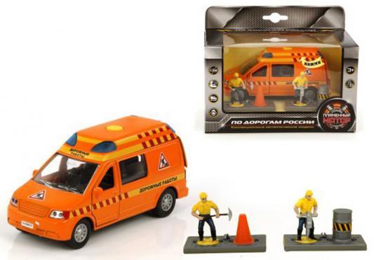 Аварийная служба Пламенный мотор Дорожные работы оранжевый 17 см 870075 пламенный мотор машинка инерционная volvo пожарная охрана