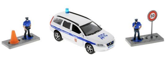 Полицейская машина Пламенный мотор Volvo Полиция ДПС ГУ БДД белый 18 см 870077