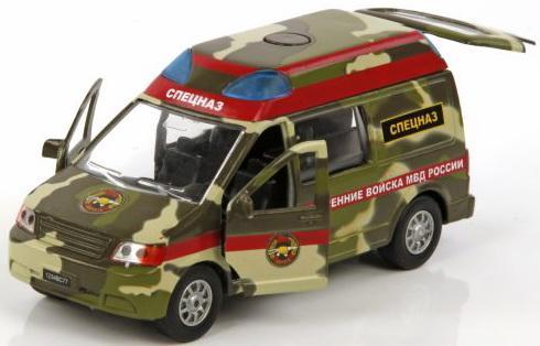 Машина Пламенный мотор 1:32 Спецназ ВВ МВД России камуфляж 18 см CT12-435-1-2