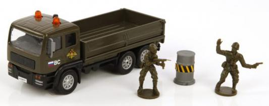 Войска Пламенный мотор Армейский грузовик хаки 20 см 870089
