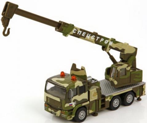 Кран Пламенный мотор 1:32 Военный кран камуфляж 21 см 870093 пламенный мотор машинка инерционная volvo пожарная охрана