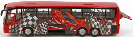 Автобус Пламенный мотор 1:32 Автобус Гонка красный 23 см 870167