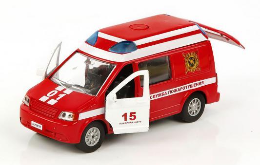 Пожарная машина Пламенный мотор 1:32 Служба пожаротушения красный 18 см 870067