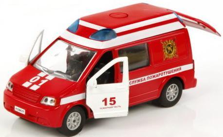 Машина Пламенный мотор 1:32 Служба пожаротушения красный 17 см 3315386